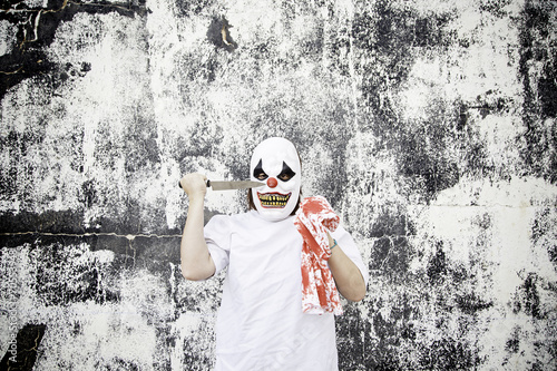 Staande foto Imagination Scary clown blood