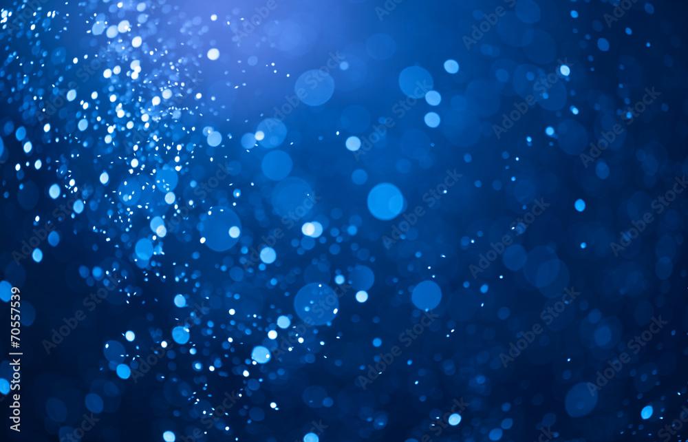 Fototapety, obrazy: blue bokeh lights background