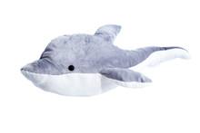 Isolierter Und Freigestellter Delphin Auf Weiß