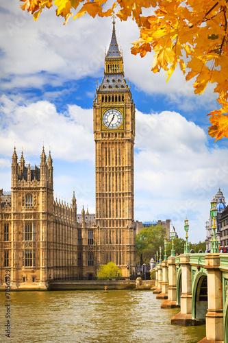 Big Ben in London Tablou Canvas