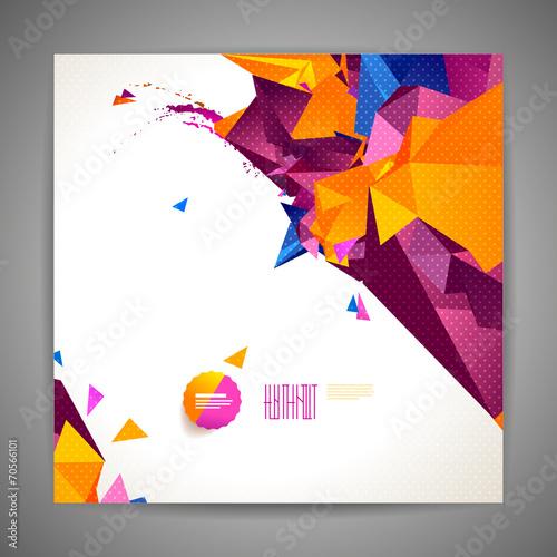 Valokuva  Polygonal geometric background for modern design
