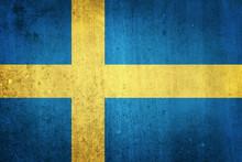 National Flag Of Sweden. Grung...