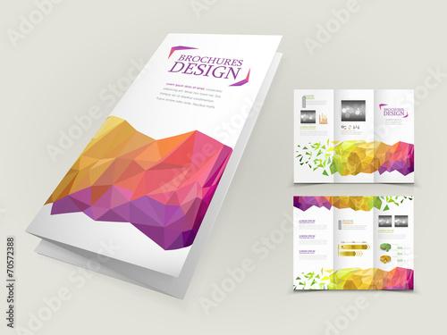 Foto op Canvas Bloemen vrouw abstract geometric background brochure design