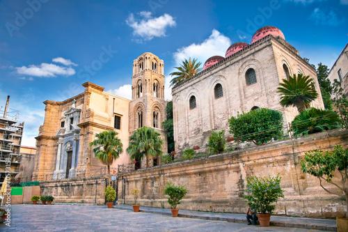 San Cataldo and Martorana church, Palermo. Sicily.