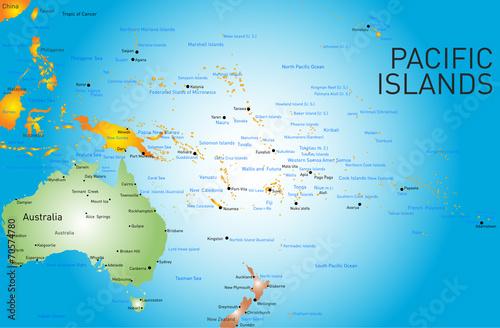 Fotografía  pacific islands map