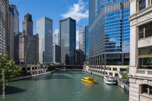 Staande foto Chicago Chicago River View