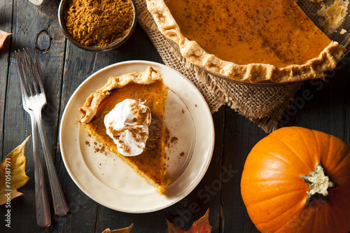 Fotografie, Obraz  Homemade Pumpkin Pie for Thanksigiving