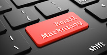 Email Marketing On Red Keyboar...