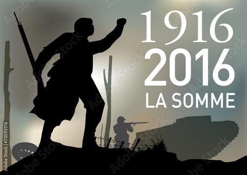 CENTENAIRE 14-18 La Somme Canvas Print