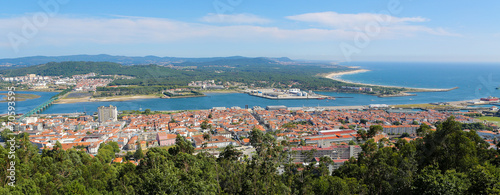 Fotografie, Obraz  Aerial view on Viana do Castelo, Portugal