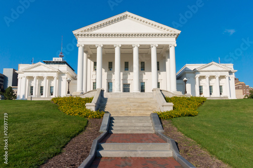 Fotografie, Obraz  Virginia Statehouse building in Richmond, Virginia, USA