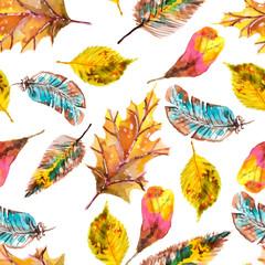 Obraz Watercolor natural seamless pattern