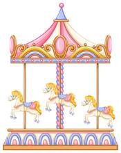 A Merry-go-round Rotating Ride
