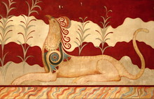 Fresco At Palace Of Knossos In Crete