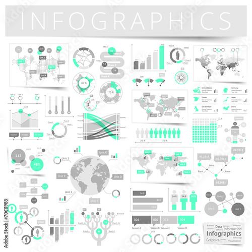 Fotografía  Set of infographics design elements