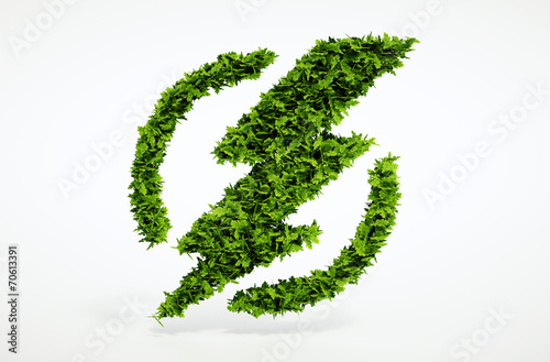 Fotografie, Obraz  Ecology flash symbol