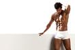 canvas print picture - Sexy portrait male model in underwear