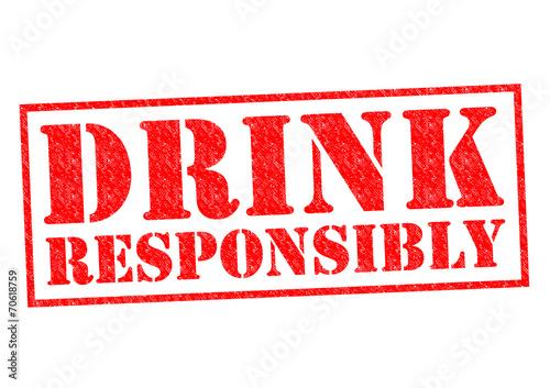 Fotografie, Obraz  DRINK RESPONSIBLY