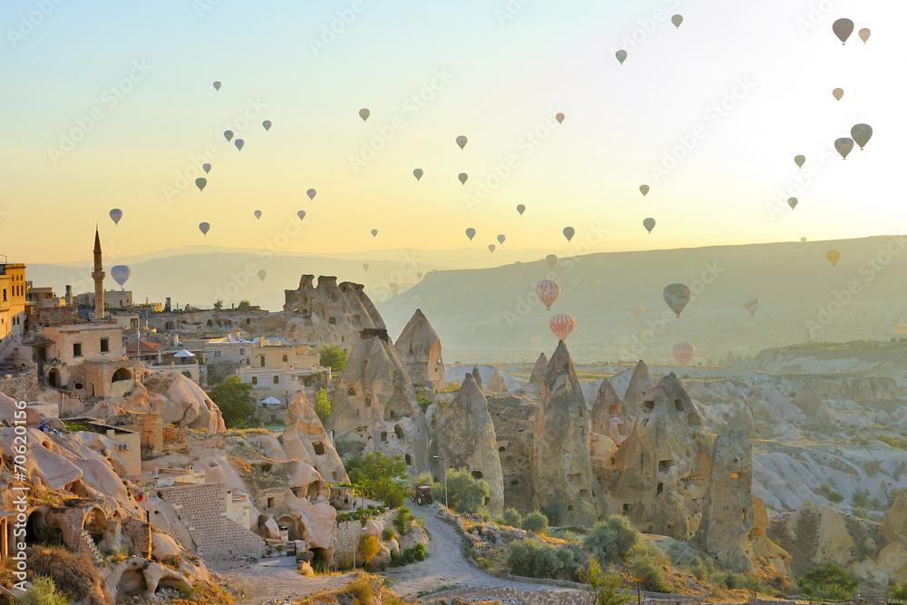 Fototapety, obrazy: Kapadocja, Turcja, bajkowe kominy Göreme