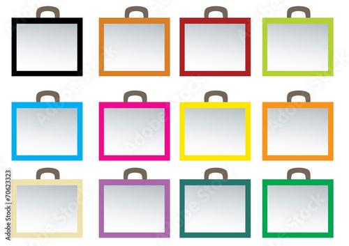 Fotografie, Obraz  ikonki walizki