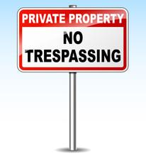 Vector No Trespassing Sign
