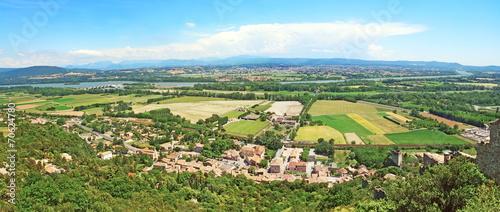 Poster de jardin Piscine Panorama sur la vallée du Rhône