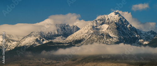 clouds above High tatry in Slovakia