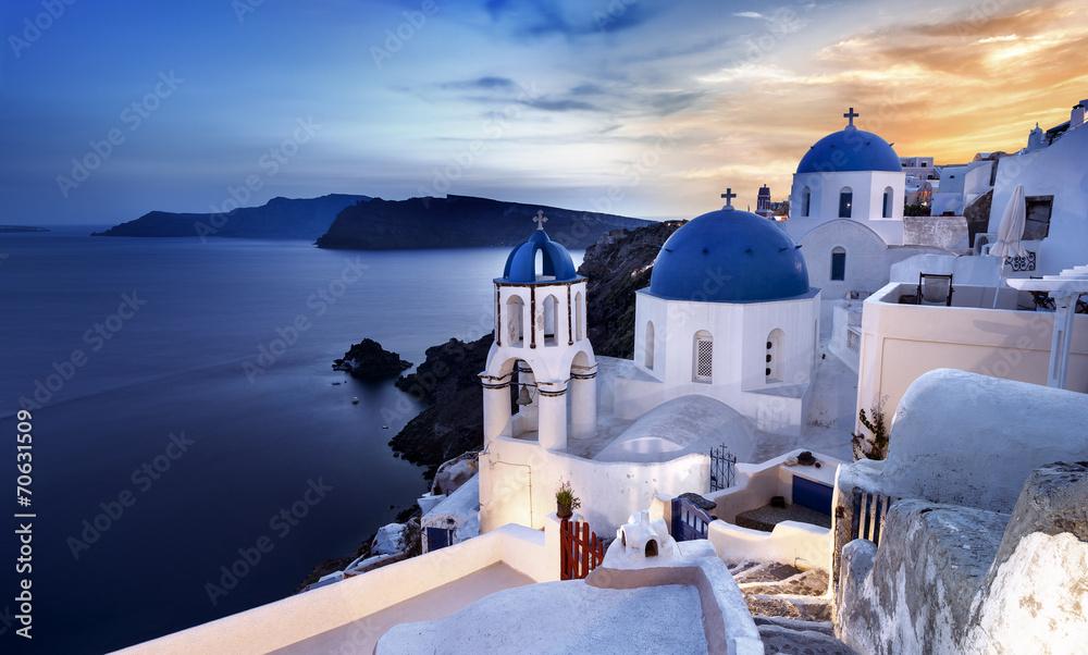 Fototapety, obrazy: Santorini wyspa Cyklady Grecja Wioska Oia
