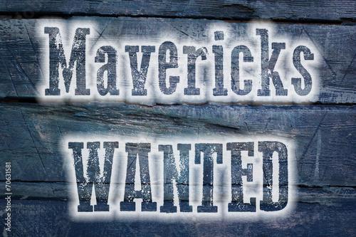 Photo  Mavericks Wanted Concept
