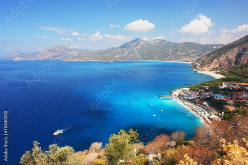 Foto op Aluminium Turkije View of the coast in Oludeniz, Turkey