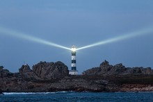 Powerful Lighthouse Illuminated