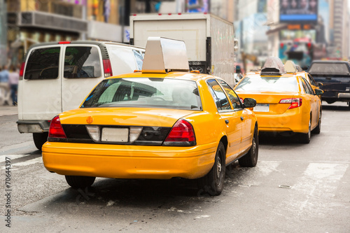 Poster New York TAXI Typical Yellow Cabs in New York