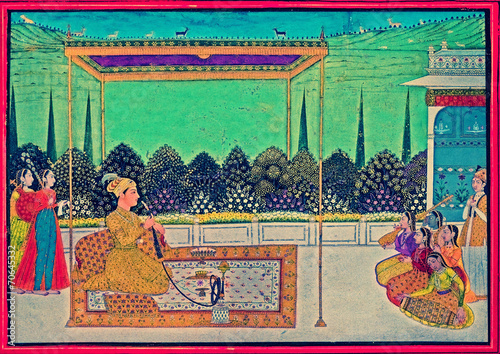 Photo  Mughal Painting