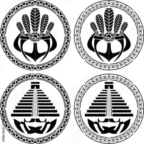 stencils of native indian american masks and pyramids buy this Native American Art stencils of native indian american masks and pyramids
