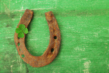 Old Horse Shoe,with Clover Lea...
