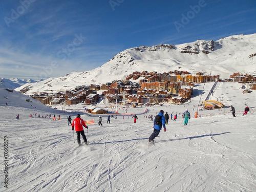 Fotografie, Obraz  Ski slope at Val Thorens, the Alps, France