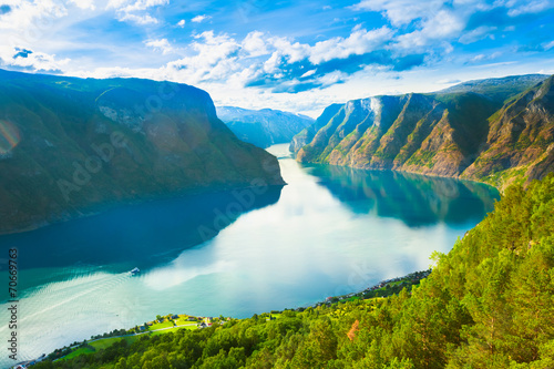 Foto op Canvas Scandinavië Norway Nature Fjord Sognefjord