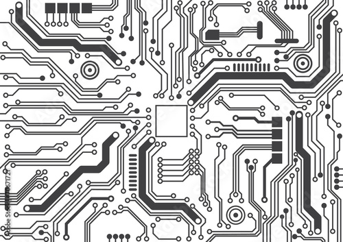 Fotografiet  circuit board background texture