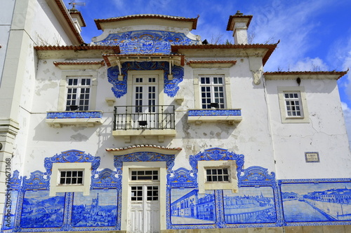 Fotografie, Obraz  Fachada de la estación de Aveiro. Portugal