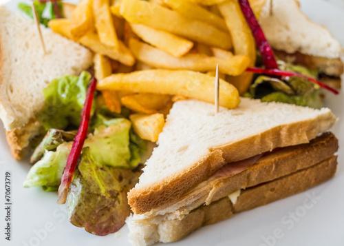 Staande foto Snack Sandwich with bacon