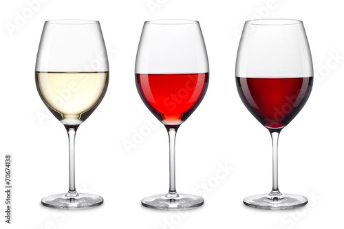 Fotografia  wine glass set