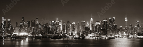 Photo sur Toile New York Midtown Manhattan skyline