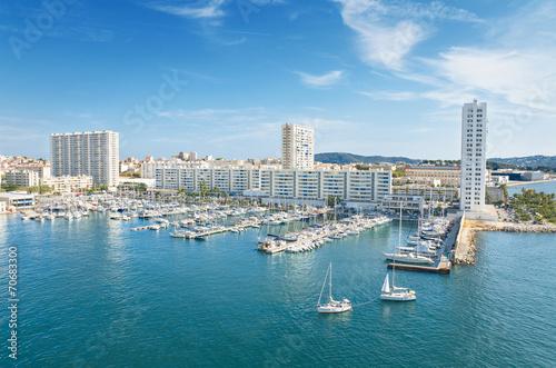Toulon harbor, France. Canvas Print