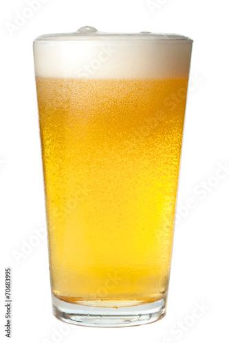 Fotografiet Pint of Beer on White