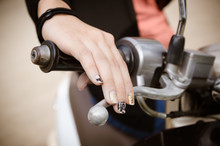 Woman's Hand Grip Motorcycles.