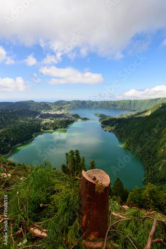 Photo  Vista vertical da Lagoa das Sete Cidades