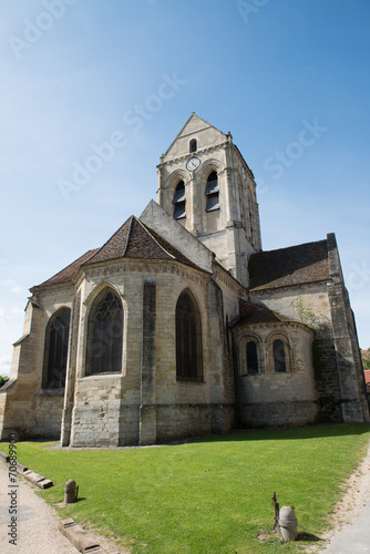 Church of Auvers-sur-Oise. Subject Of Vincent Van Gogh Canvas Print