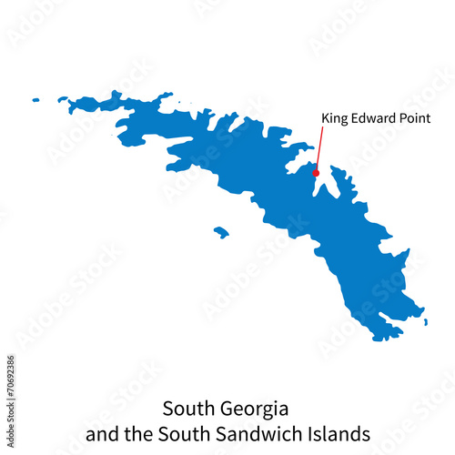 Map Of Georgia With Capital.Map Of South Georgia And Sandwich Islands With Capital City Buy