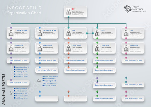 Fotografía  Infographics Vector Background #Organization Chart