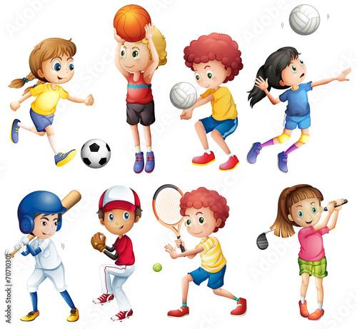 Papiers peints Chambre bébé Children and sports